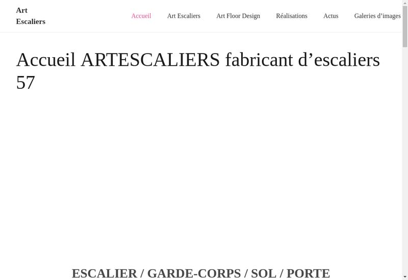 Capture d'écran du site de Escaliers Kirner