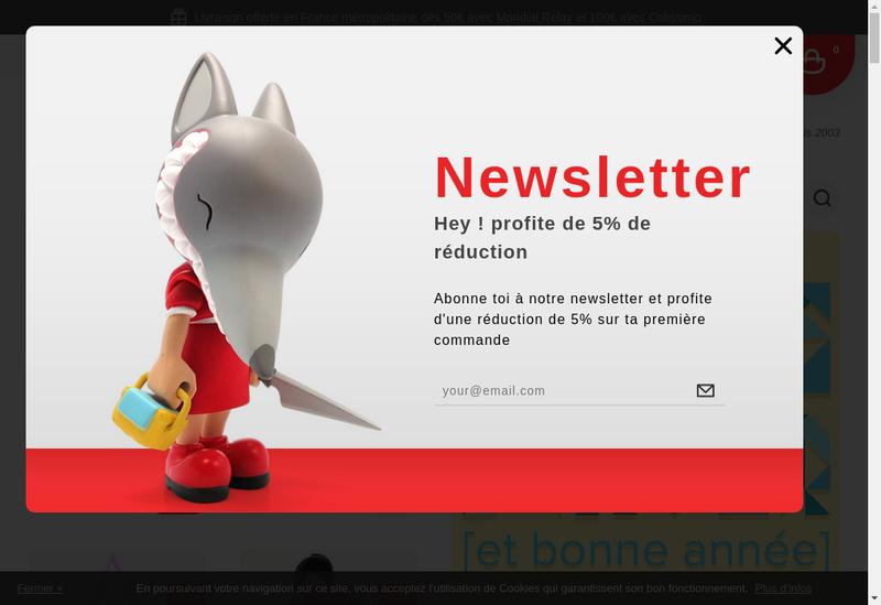Capture d'écran du site de Artoyz.com