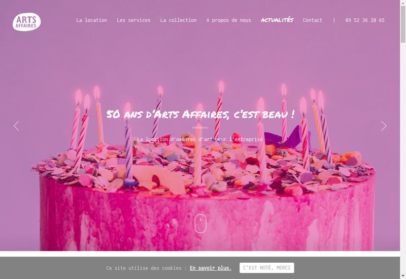 Capture d'écran du site de Societe Arts Affaires