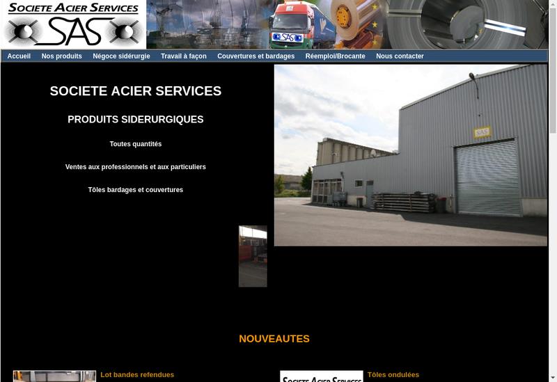 Capture d'écran du site de SAS