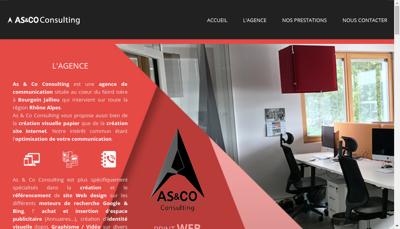 Capture d'écran du site de As&Co Consulting