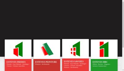 Capture d'écran du site de Esteves Freres