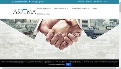 Site internet de Asigma