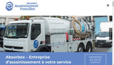 Site internet de Absorbex Assainissement Francilien