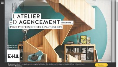 Capture d'écran du site de L'Atelier d'Agencement