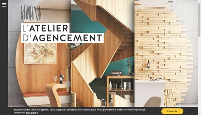 Site internet de L'Atelier d'Agencement