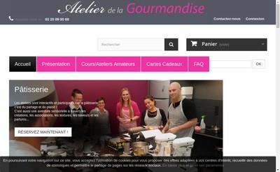 Site internet de Atelier de la Gourmandise