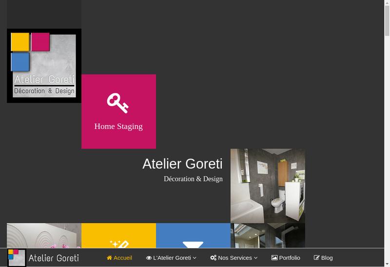 Capture d'écran du site de Atelier Goreti