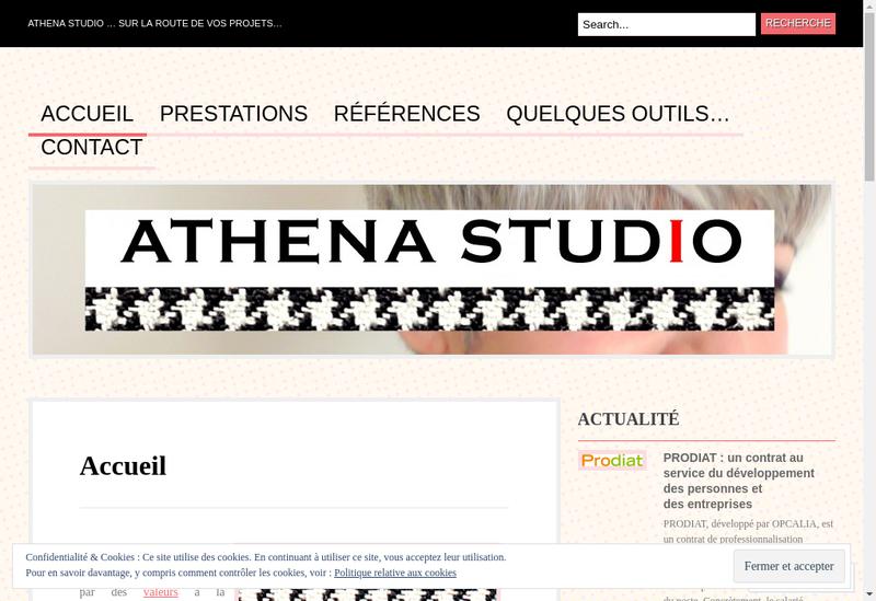 Capture d'écran du site de Athena Studio