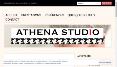 Site internet de Athena Studio