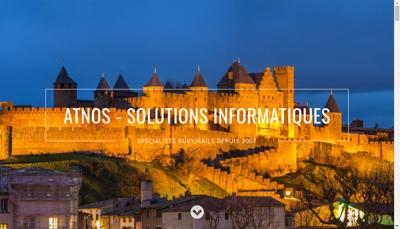Capture d'écran du site de Atnos