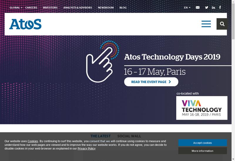 Capture d'écran du site de Atos Origin