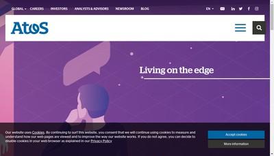 Site internet de Atos Origin