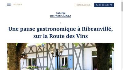 Site internet de Auberge du Parc Carola