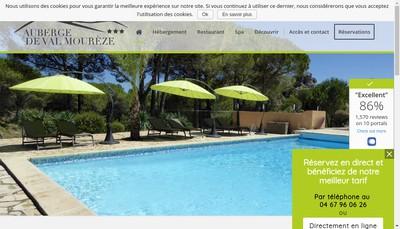 Site internet de Auberge de Val Moureze