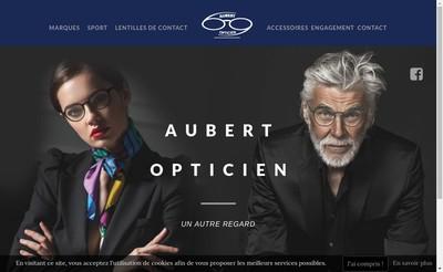 Site internet de Aubert Opticien