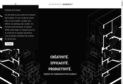 Site internet de Audience Agency