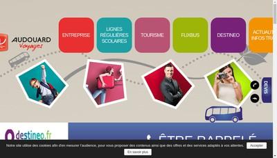 Site internet de Audouard Voyages