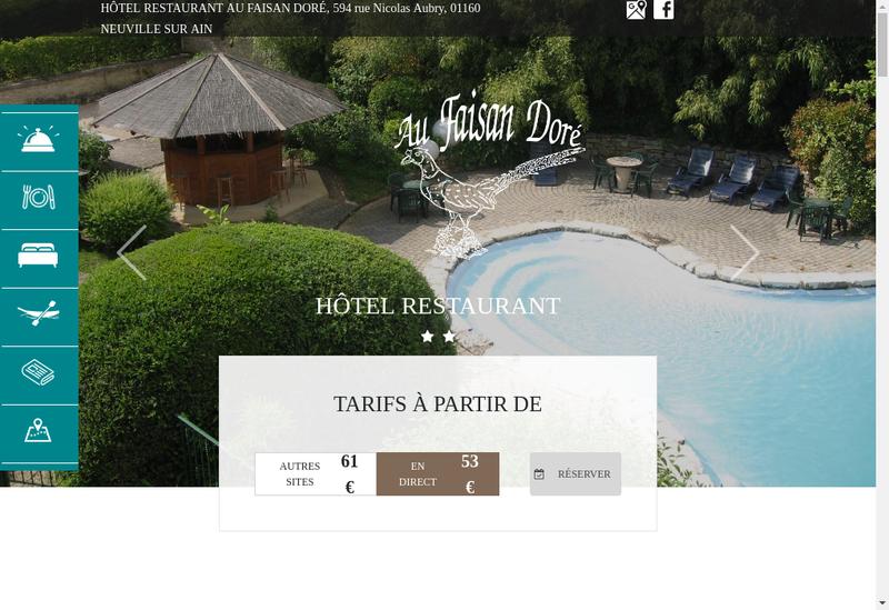 Capture d'écran du site de Le Faisan Dore