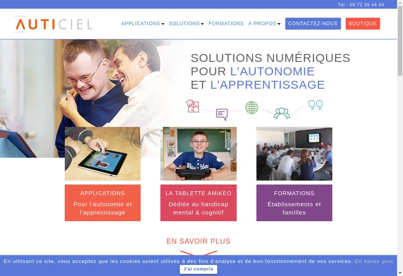 Capture d'écran du site de Auticiel