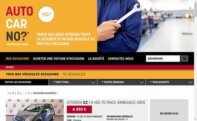 Site internet de Auto Car No?