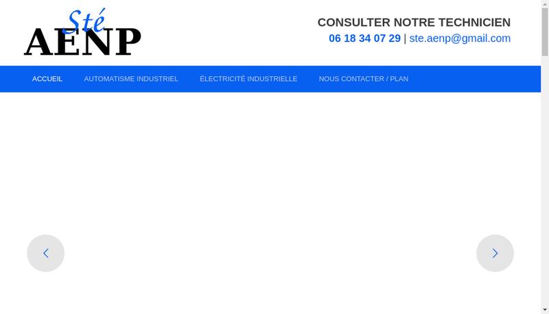 Capture d'écran du site de Aenp Automat Elec Nicolas Perray