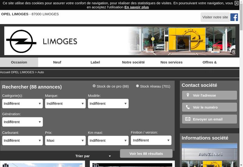 Capture d'écran du site de Auto Zi Nord