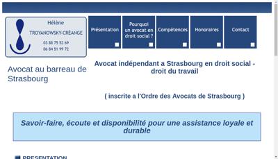 Capture d'écran du site de Michel Troyanowsky