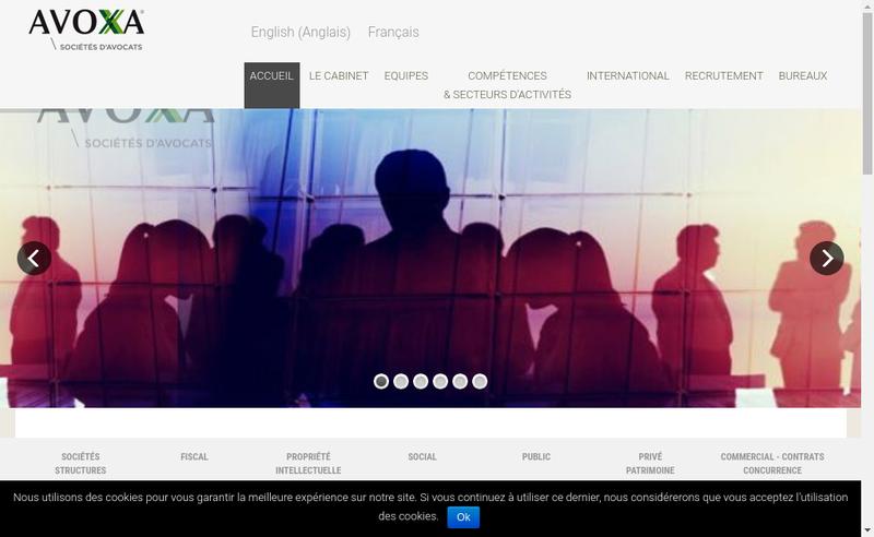 Capture d'écran du site de Avoxa