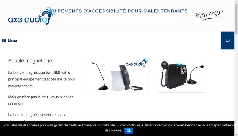 Capture d'écran du site de Axe Audio
