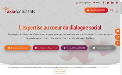 Site internet de Axia Consultants