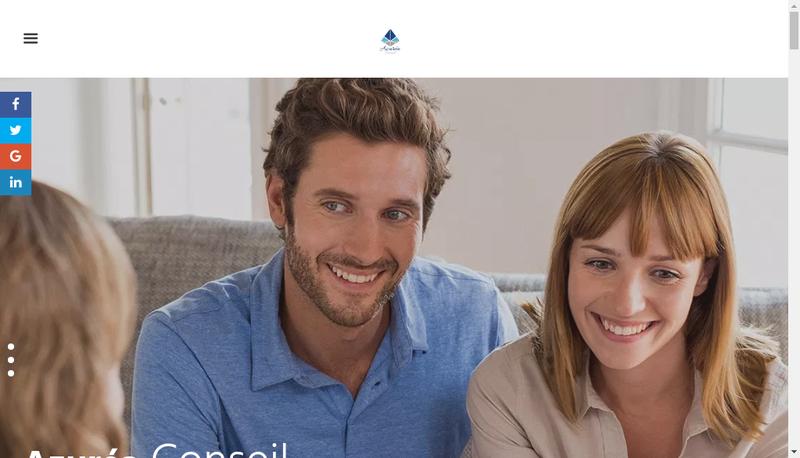 Capture d'écran du site de Azurea Conseil