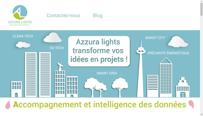 Capture d'écran du site de Azzura Lights