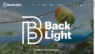 Site internet de Backlight Studio