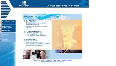 Site internet de Bail Actea