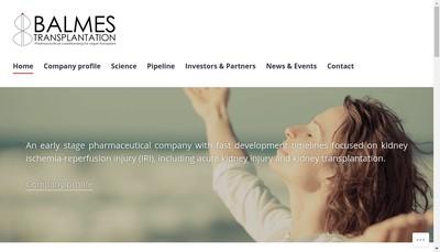 Site internet de Balmes Transplantation
