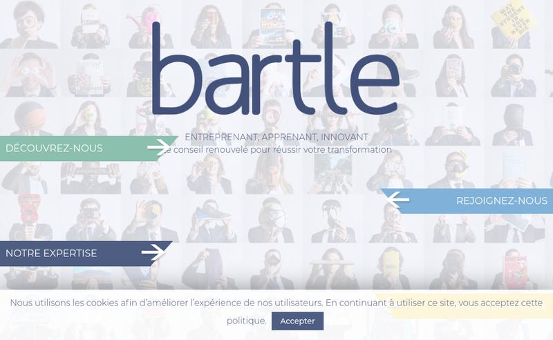 Capture d'écran du site de Bartle Management