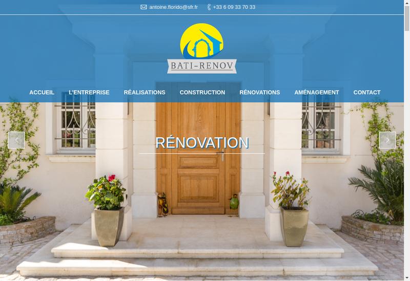 Capture d'écran du site de Bati Renov