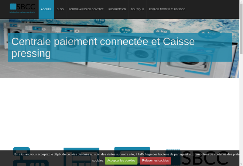 Capture d'écran du site de Sebastien Bech