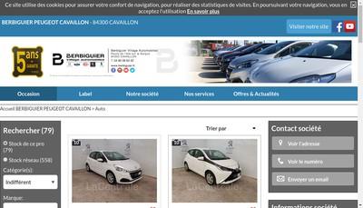 Site internet de Peugeot Cavaillon