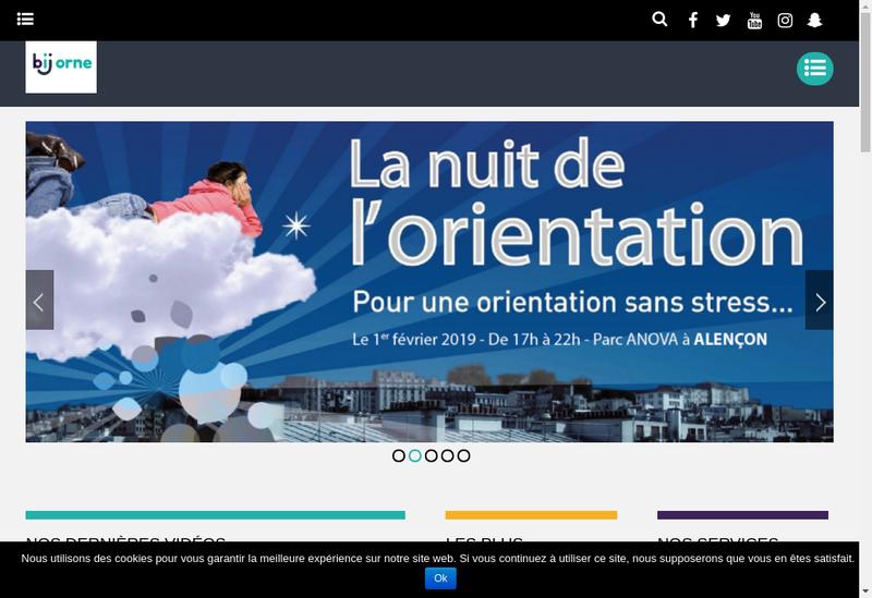 Capture d'écran du site de Bureau d'Information Jeunesse