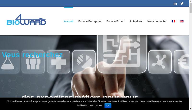 Capture d'écran du site de Bio4Ward