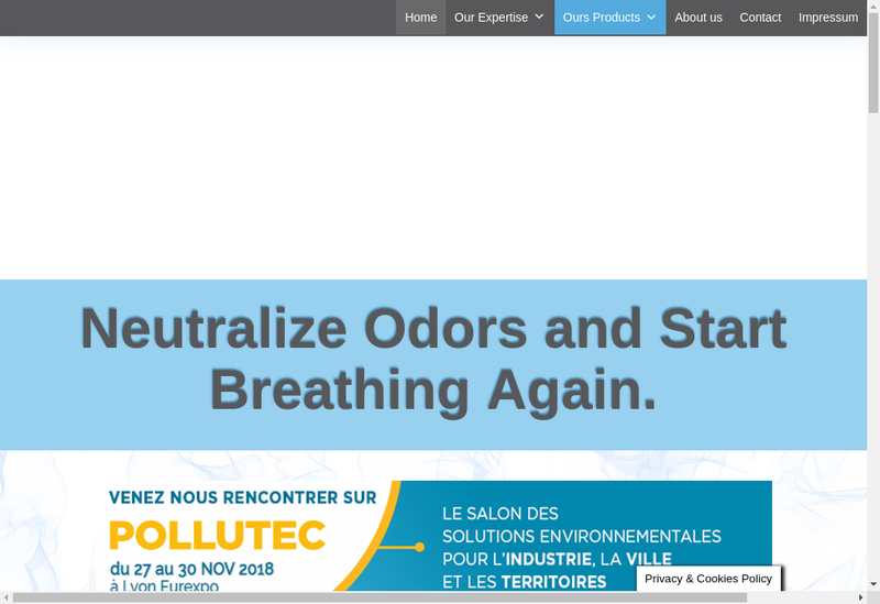 Capture d'écran du site de Biothys France