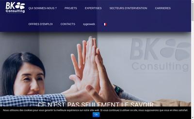 Site internet de Bk Consulting