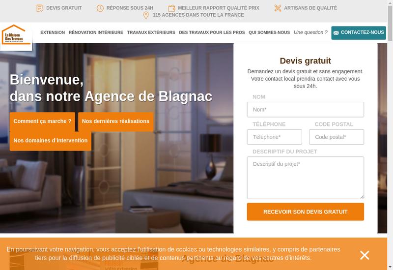 Capture d'écran du site de La Maison des Travaux