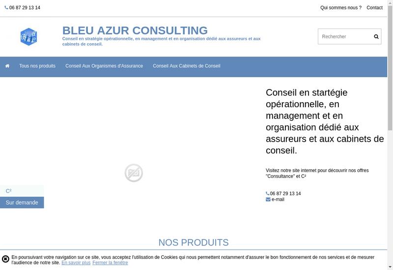 Capture d'écran du site de Bleu Azur Consulting