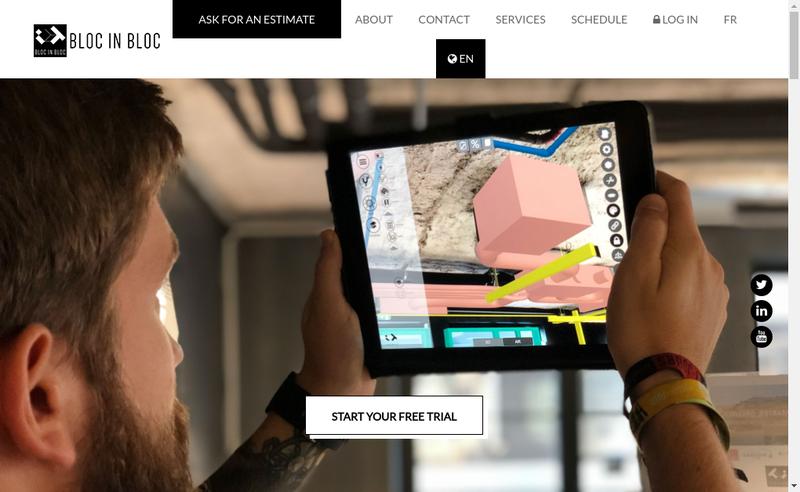 Capture d'écran du site de Bloc In Bloc