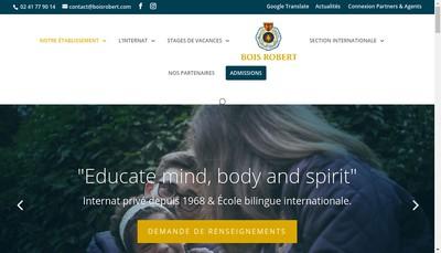 Site internet de Institut Bois Robert