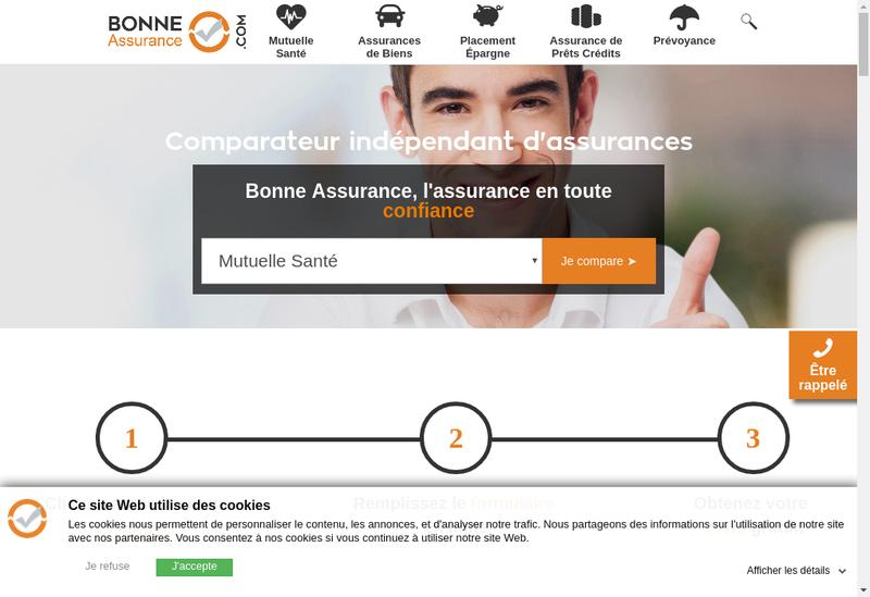 Capture d'écran du site de Bonne Assurance