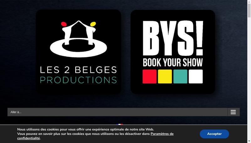 Capture d'écran du site de Book Your Show
